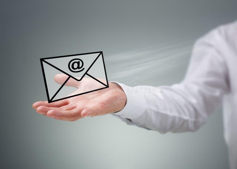 Contacteer ons per e-mail royalty-vrije stock fotografie