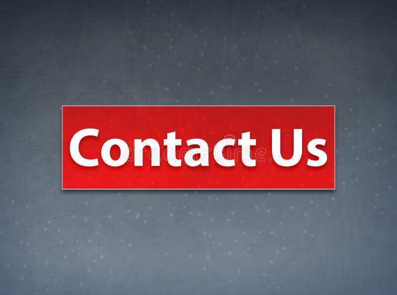 Contacteer ons Rode Banner Abstracte Achtergrond stock illustratie