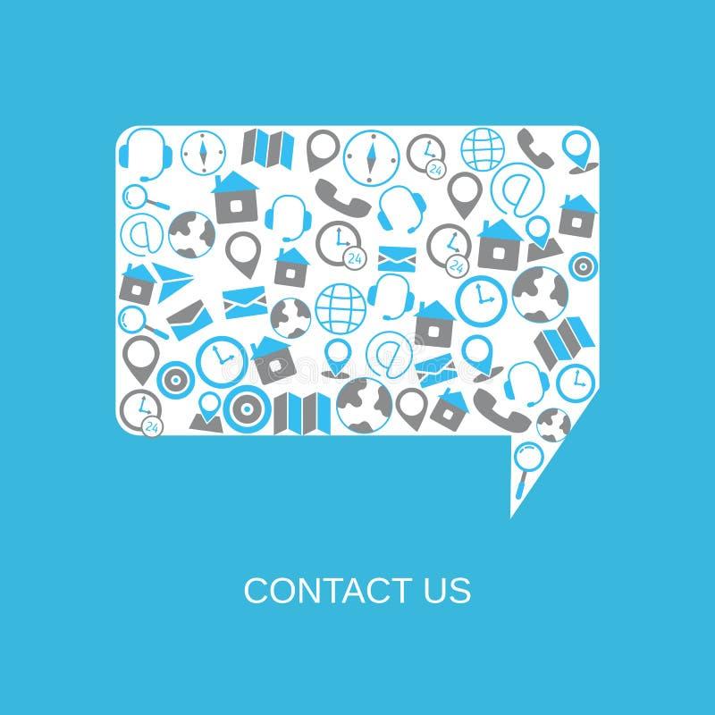 Contacteer ons steunhulp vector illustratie