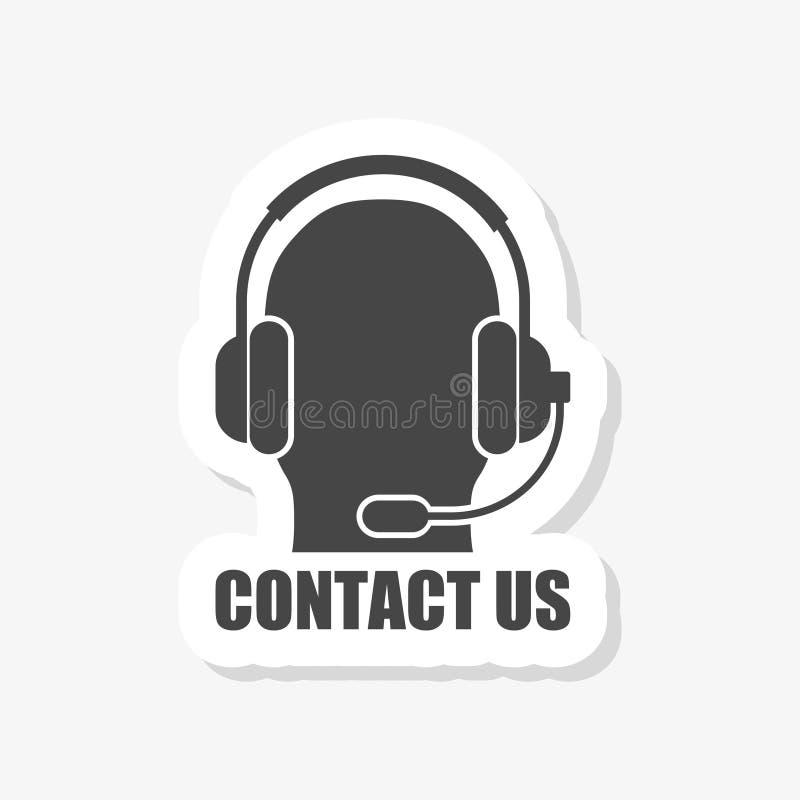 contacteer ons sticker vector illustratie