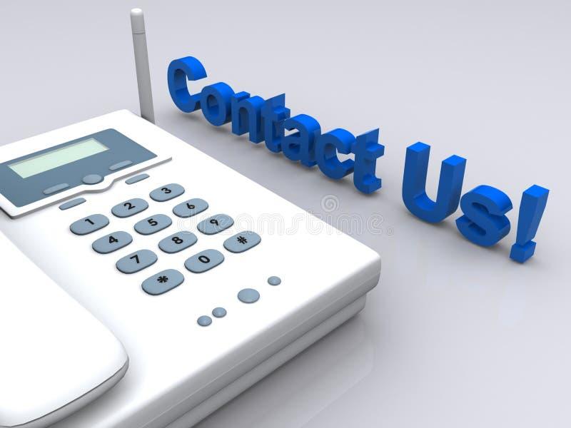 Contacteer ons telefoon royalty-vrije illustratie