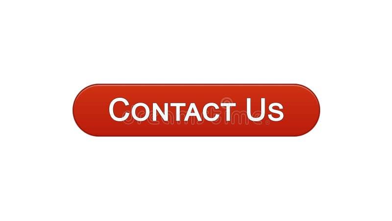 Contacteer ons van de de bedrijfs knoopwijn van de Webinterface de rode kleuren mededeling, hulp royalty-vrije illustratie