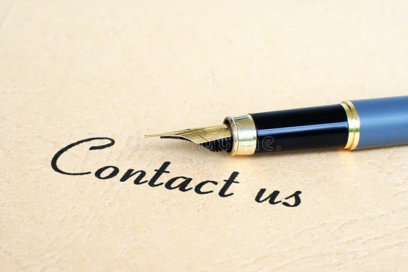 Contactez-nous photographie stock