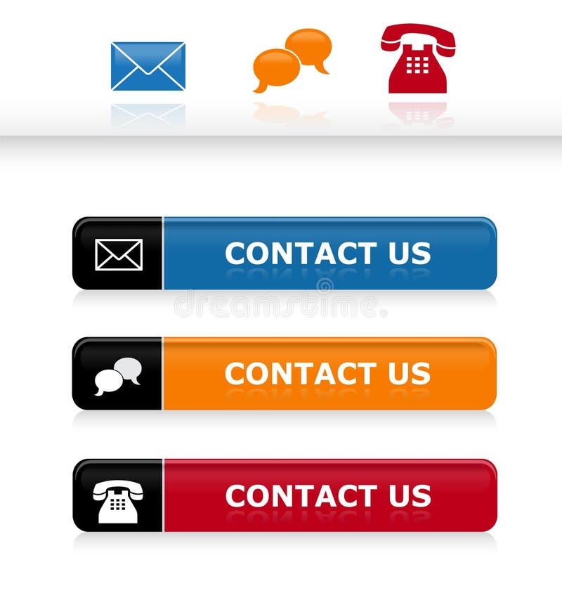 Contactez-nous illustration stock