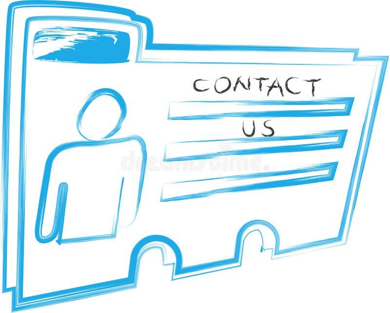 Contactez-nous image stock