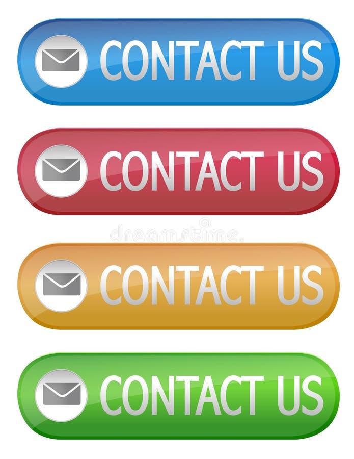 Contactez-nous bouton illustration libre de droits