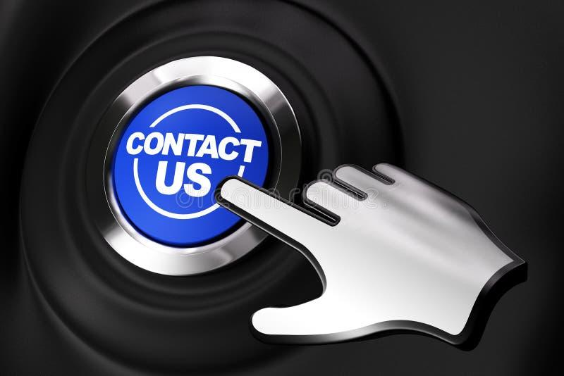 Contactez-nous bouton illustration de vecteur