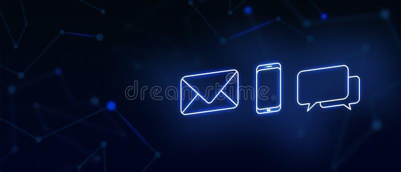 Contactez-nous, contact, contact d'email, appel, message, page d'atterrissage, fond, page de couverture, icône images libres de droits