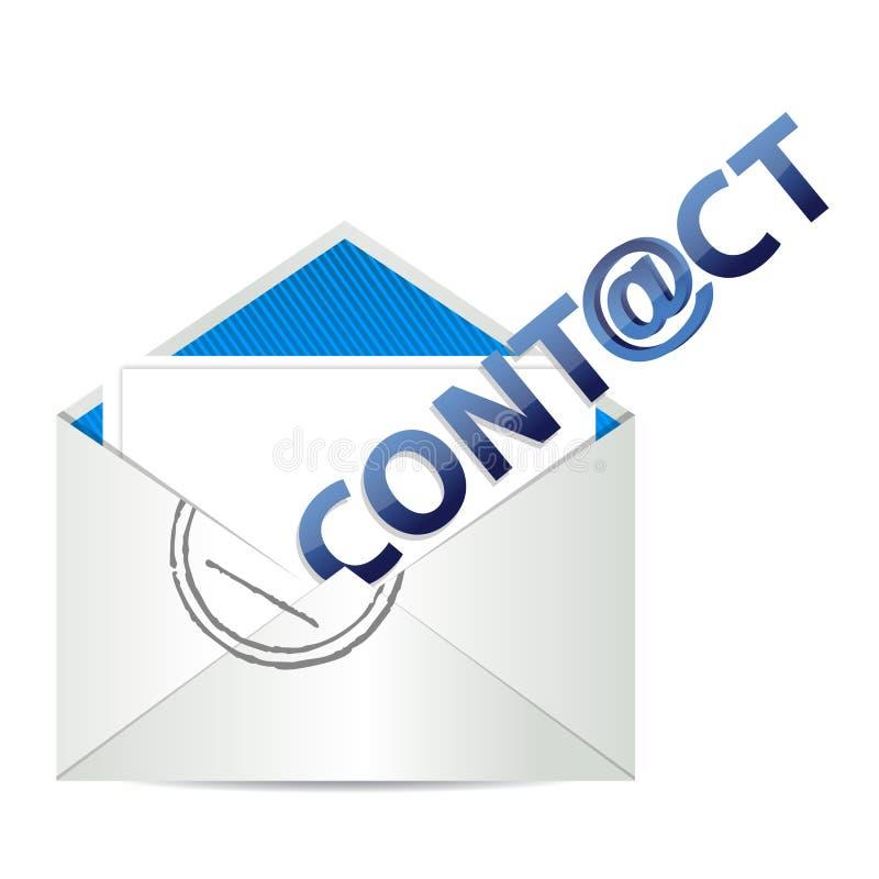 Contactez-nous d'email illustration libre de droits