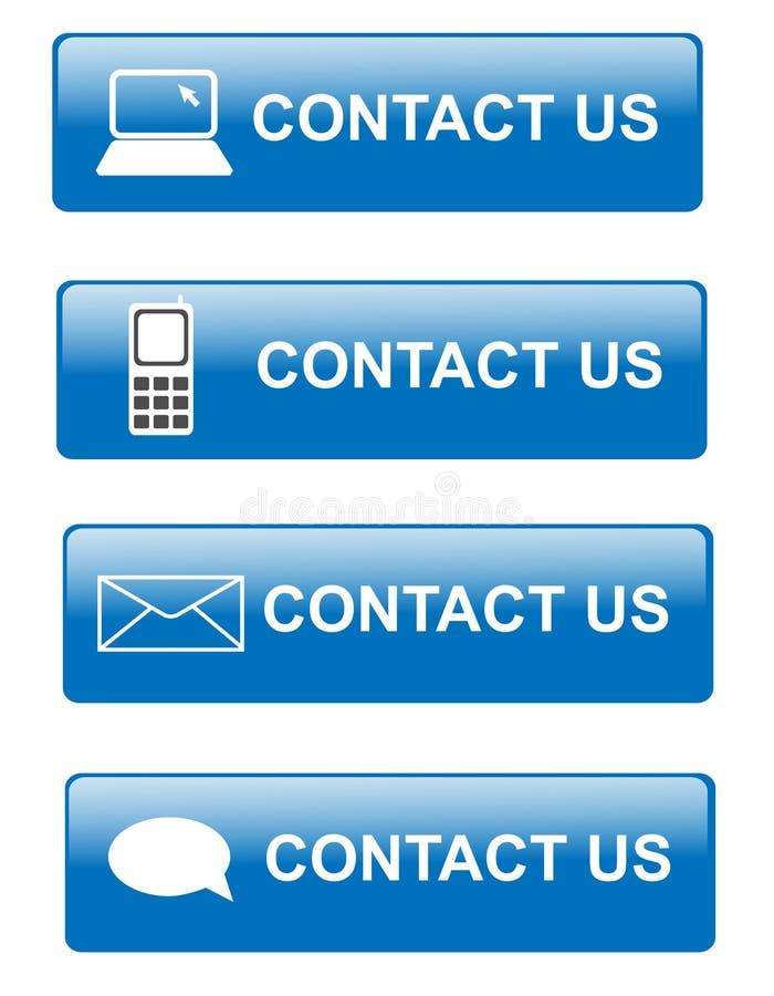 Contactez-nous des boutons illustration de vecteur