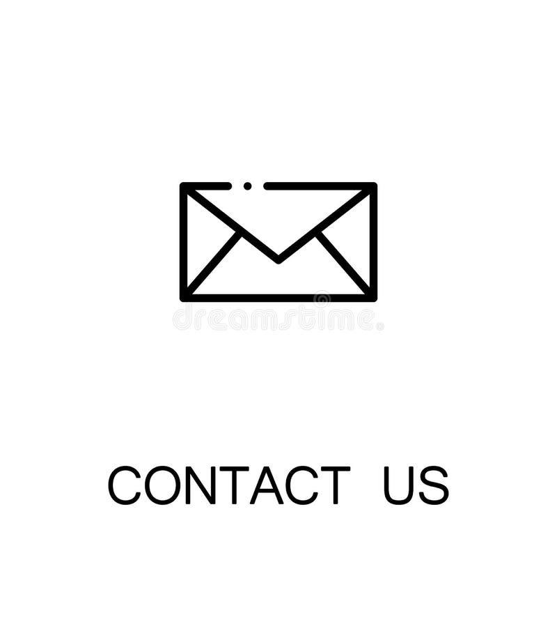 Contactez-nous graphisme illustration de vecteur