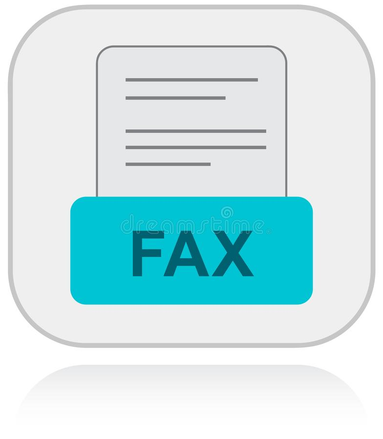 Contactez-nous par l'intermédiaire de fax Icône de support à la clientèle illustration libre de droits