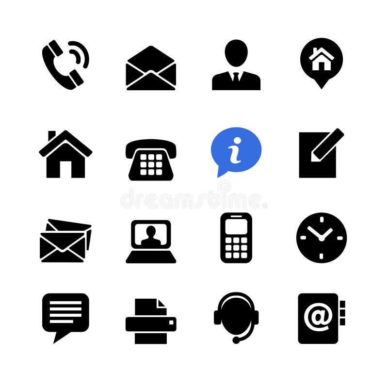 Contactez-nous réglé d'icône de Web illustration libre de droits