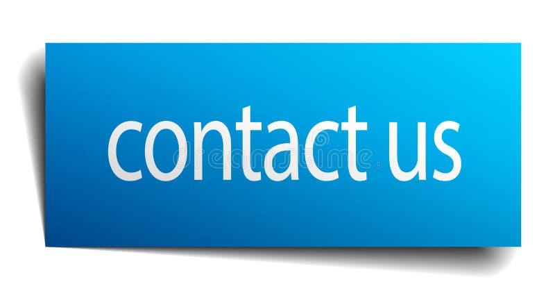 Contactez-nous signe illustration stock
