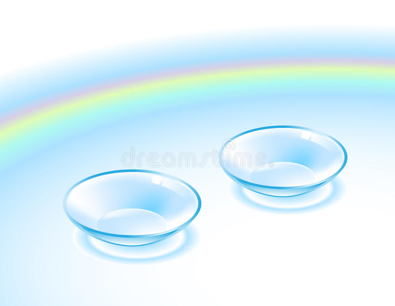 Contactlens stock illustratie