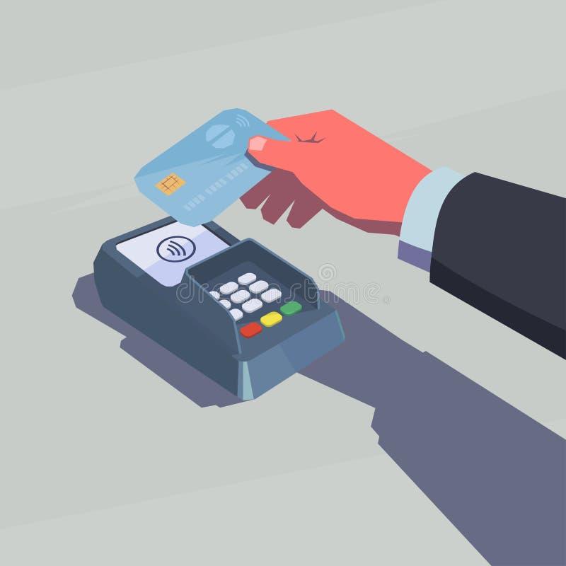 Contactless betalning stock illustrationer