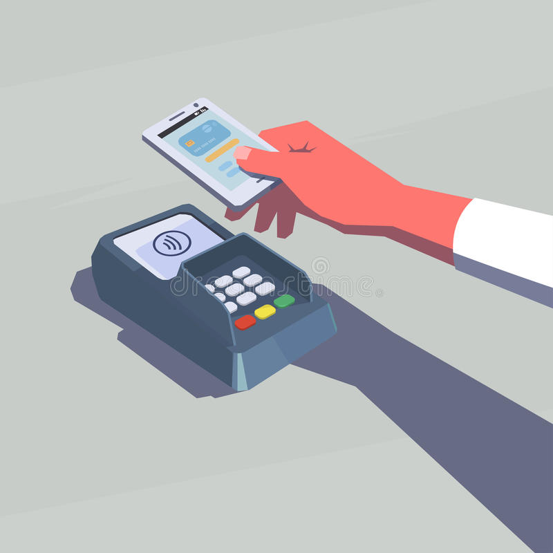 Contactless payment. vector illustration