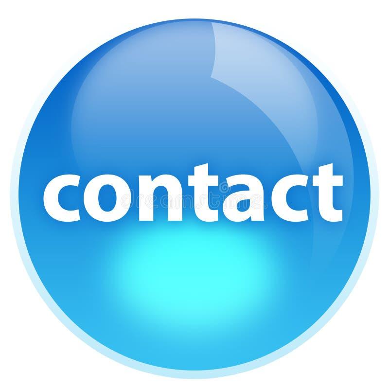 Contacto azul del botón libre illustration
