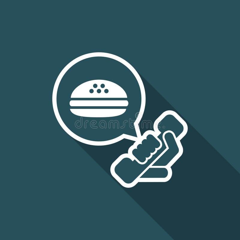 Contacto para el takeaway de la comida stock de ilustración