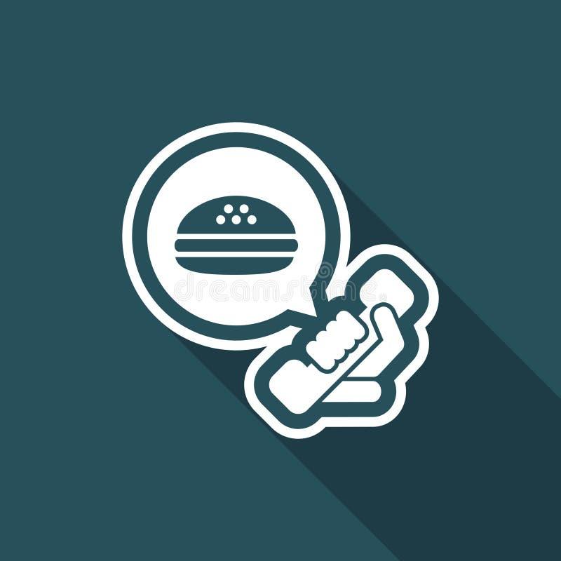 Contacto para el takeaway de la comida ilustración del vector