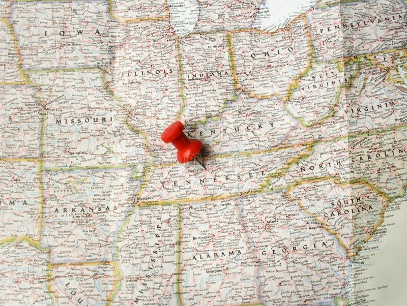 Contacto rojo en Nashville imagen de archivo