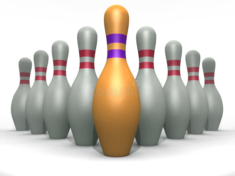 Contactos de bowling stock de ilustración