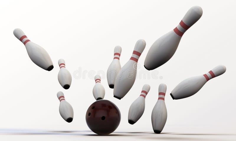 Contactos de bowling ilustración del vector