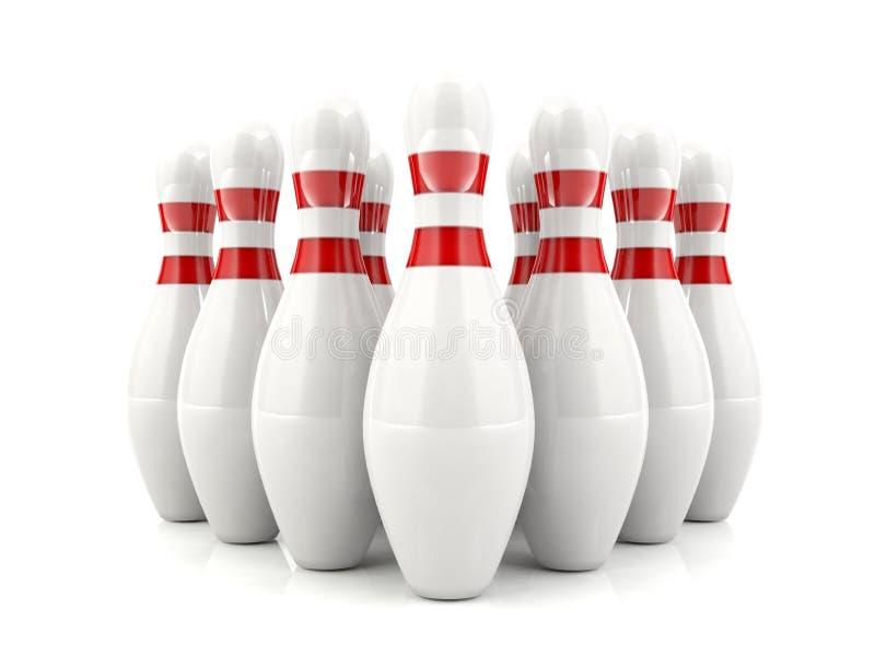 contactos de bowling 3d libre illustration