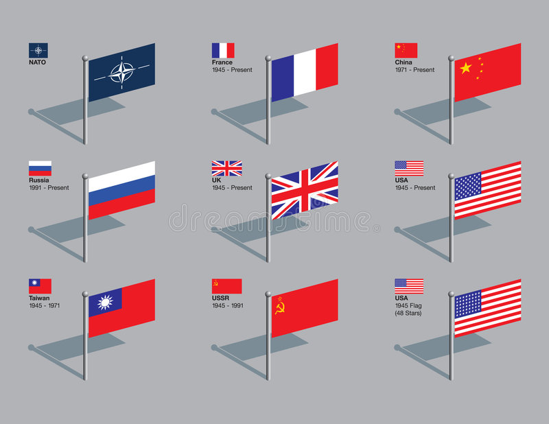 Contactos del indicador - Consejo de Seguridad de la OTAN y de la ONU ilustración del vector