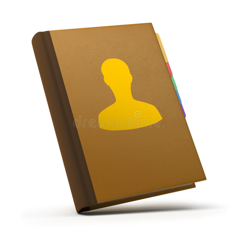 Contacts book vector illustration