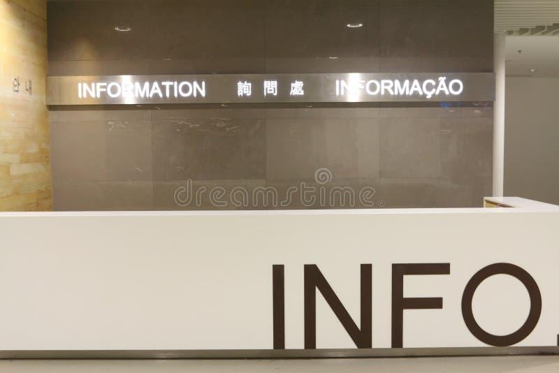Contador da informação imagem de stock