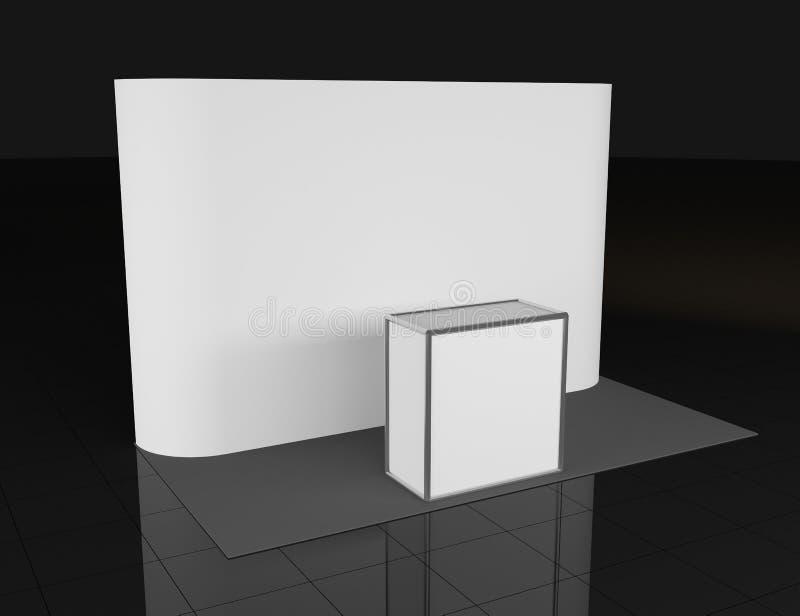 Contador da promo??o Suporte do com?rcio a retalho isolado no fundo branco Molde do modelo para seu projeto backdrop ilustração do vetor