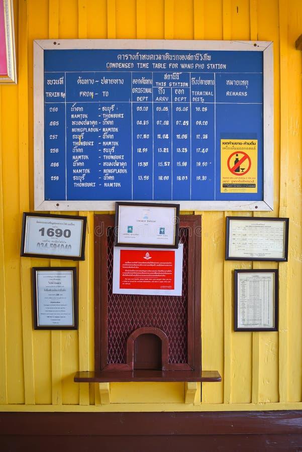 Contador de bilhete do trem fotografia de stock