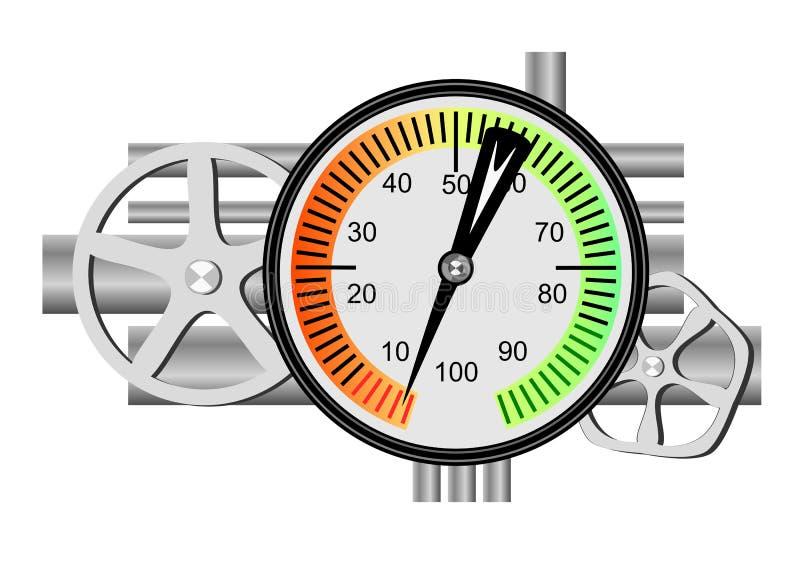 Contador de combustible stock de ilustración