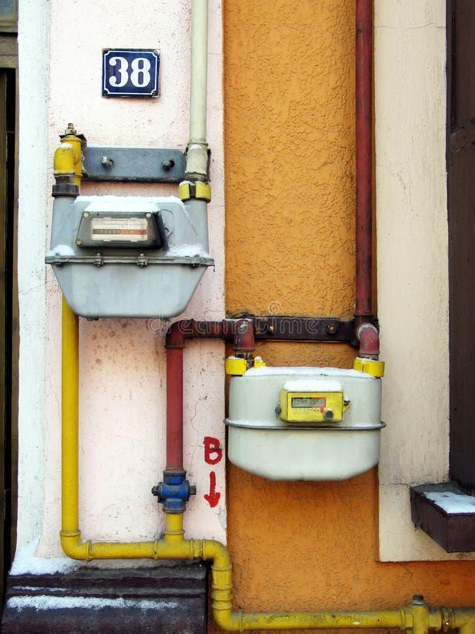 Contador de gas imagen de archivo libre de regalías