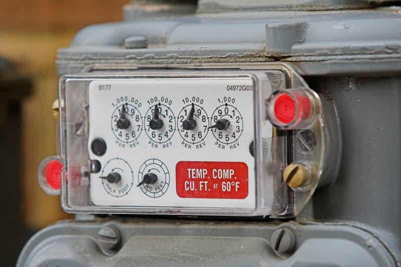 Contador de gas natural imagenes de archivo
