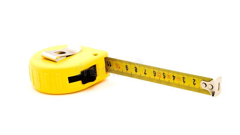 Contador de la cinta métrica imagenes de archivo