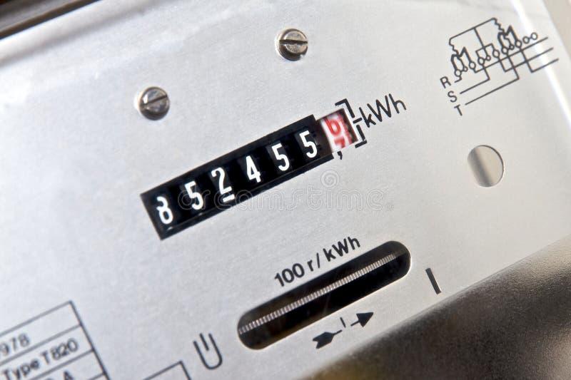 Contador de la electricidad imagen de archivo libre de regalías