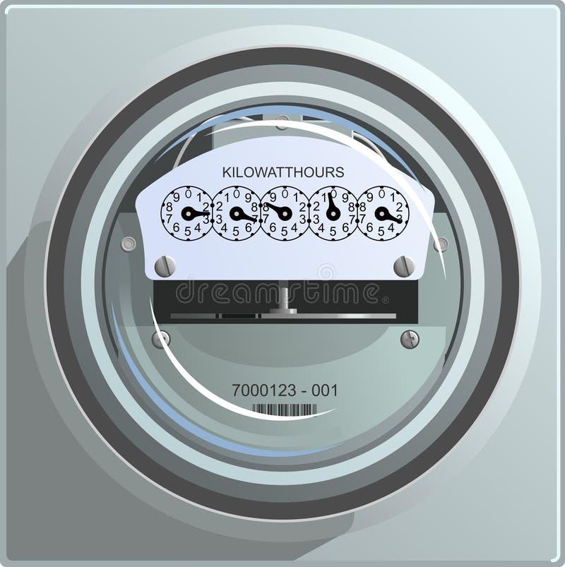 Contador de la energía eléctrica ilustración del vector