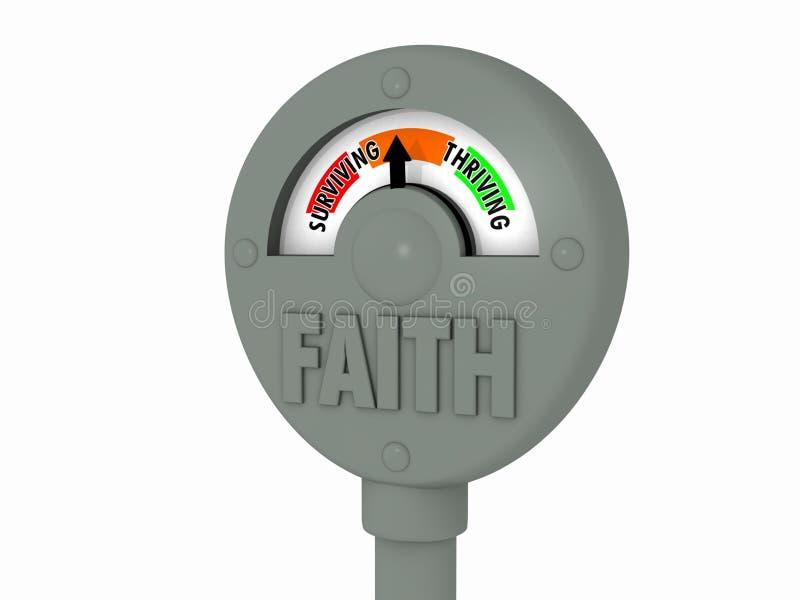 Contador de la fe stock de ilustración