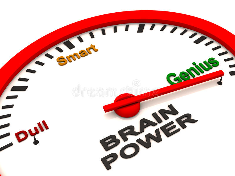 Contador de potencia de cerebro ilustración del vector