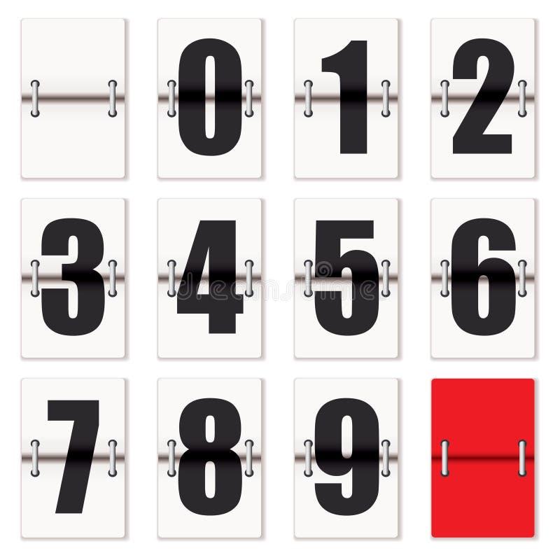Contador de reloj del número libre illustration