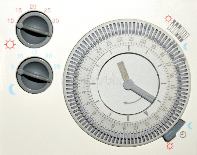 Contador de tiempo de la calefacción central imagen de archivo libre de regalías