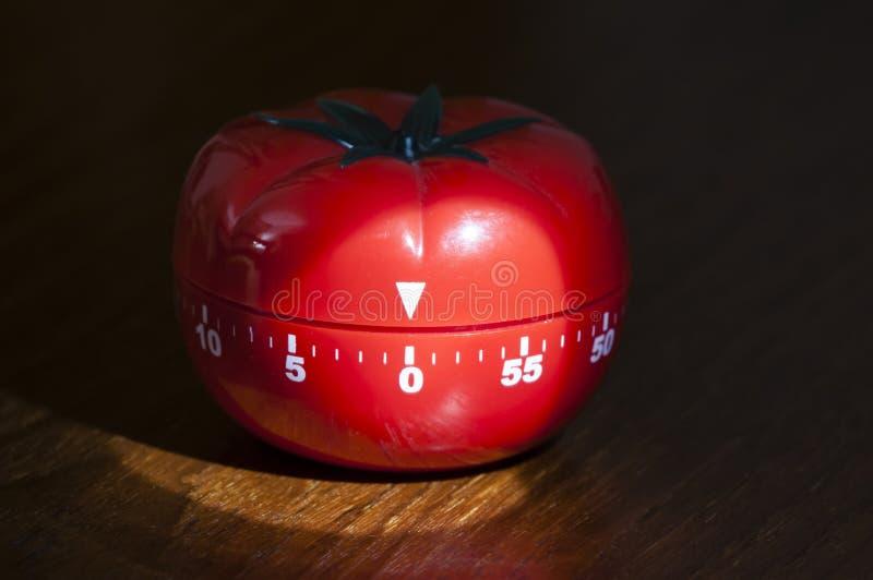 Contador de tiempo de la cocina para cocinar y trabajar imagen de archivo
