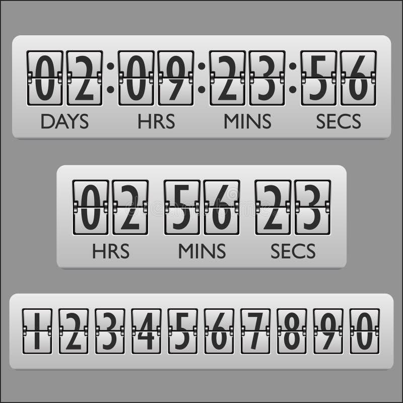 Download Contador De Tiempo Del Reloj De La Cuenta Descendiente Ilustración del Vector - Ilustración de visualización, concepto: 42441399