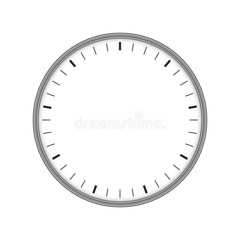 Contador de tiempo electrónico 60 segundos Icono del Web ilustración del vector