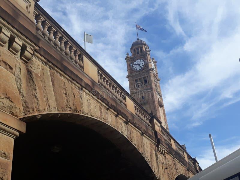 Contador de tiempo en Sydney, Australia Está cerca de estación de tren central fotografía de archivo