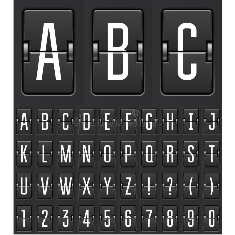 Contador de tiempo mecánico de la cuenta descendiente - marcador del tirón del juego libre illustration