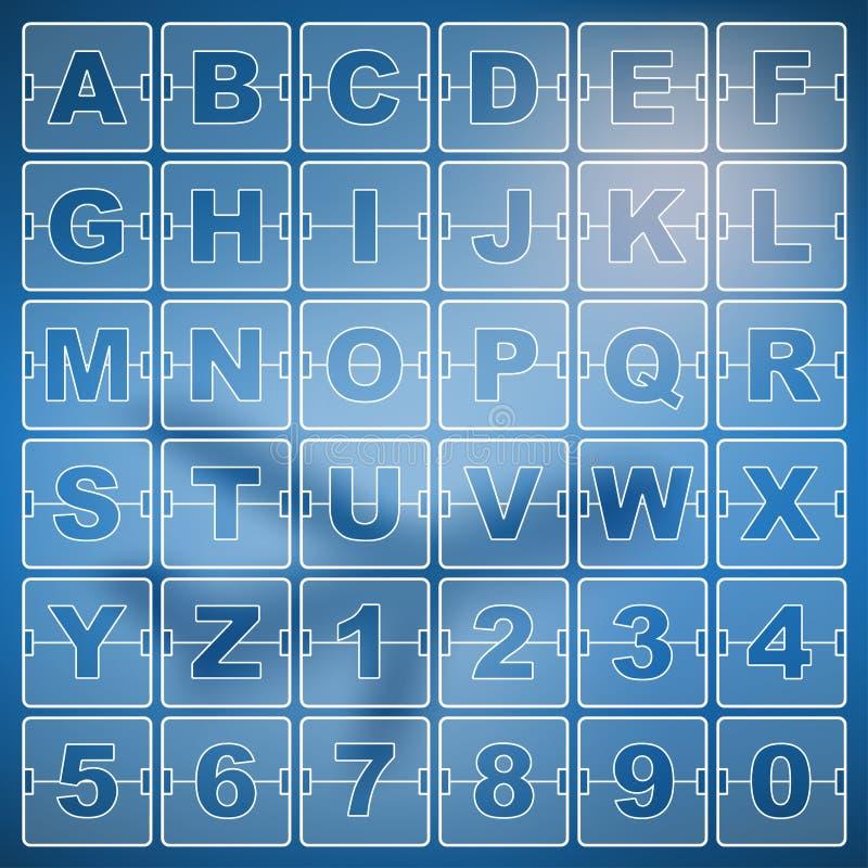 Contador de tiempo y fecha, números de la cuenta descendiente del marcador del calendario libre illustration