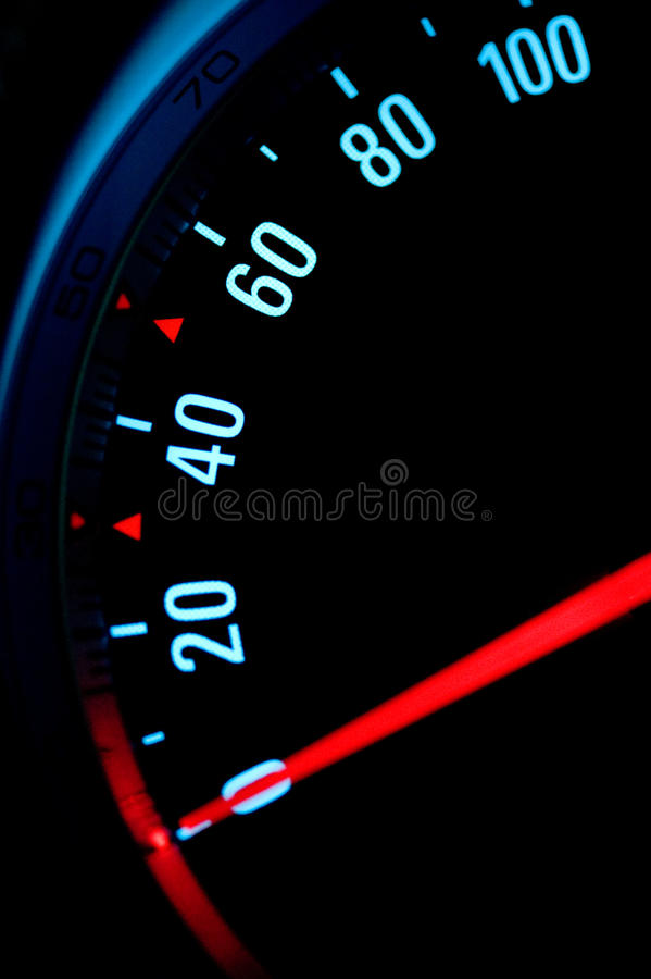 Contador de velocidad del coche fotografía de archivo